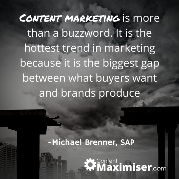Content Marketing is more than a buzzword. It is the hottest trend in marketing…..